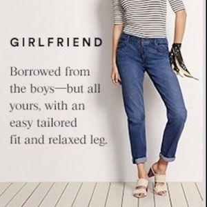 NWT Ann Taylor Girlfriend Straight Jeans